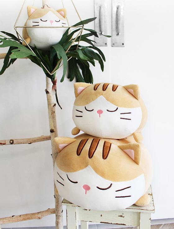 [메세] 모찌모찌 베르 고양이쿠션M