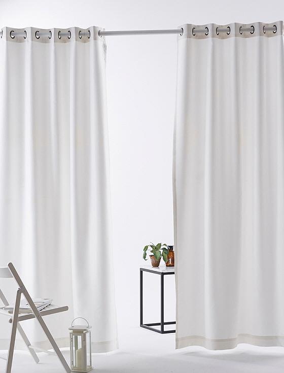[엘르비]아델 화이트 암막커튼 아일렛스타일 중형(130x230)2장/대형(200x230)2장/특대형(260x230)2장+커튼끈