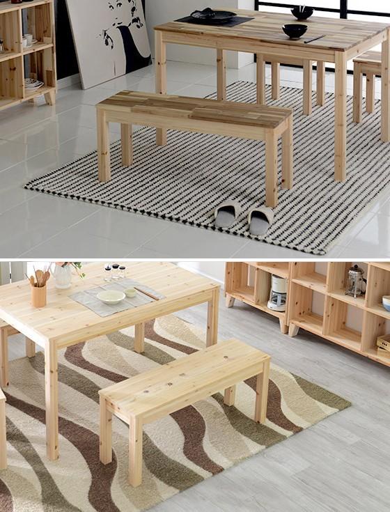 원목 2인벤치 스툴 체어 의자 2인용의자 식탁의자(삼나무/아카시아)
