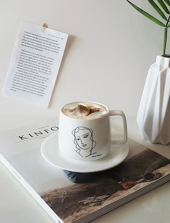 앙리마티스 커피잔세트 드로잉컵 집들이선물