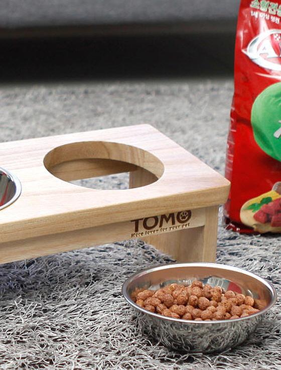 [네이쳐리빙] 토모 원목 애견식탁세트(2구)