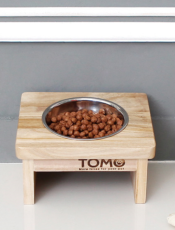 [네이쳐리빙] 토모 원목 애견식탁세트(1구)